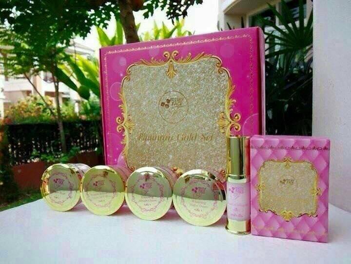 Platinum Gold Set by Freshy Face แพลตตินัม โกลด์ เซท กล่องสีชมพู