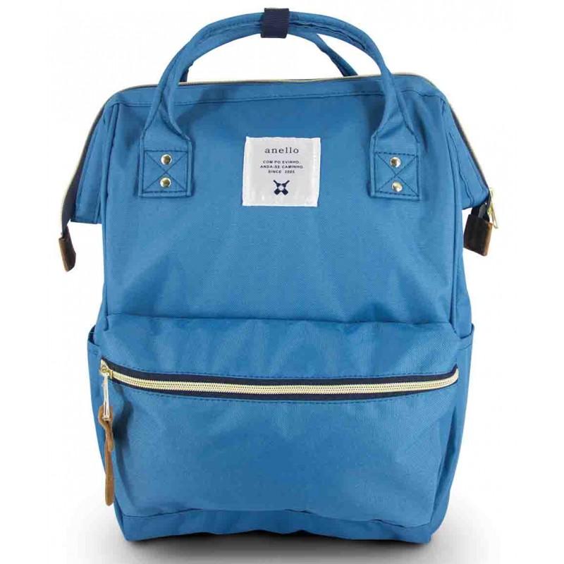 New!! กระเป๋าเป้ Anello Canvas Blue (Standard) ผ้าโพลีเอสเตอร์แคนวาส กันน้ำ