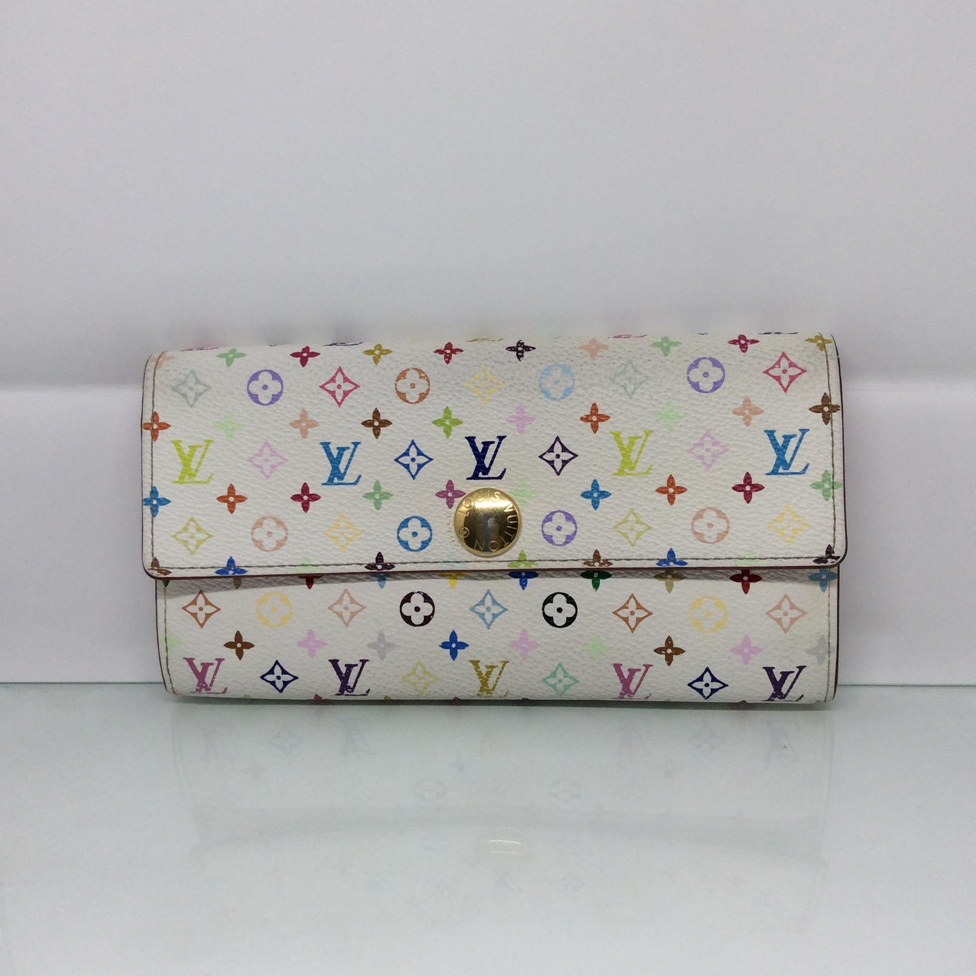 LOUIS VUITTON portefeuille sarah multicolor white