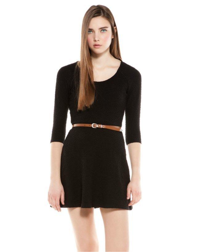 **พรีออเดอร์** ชุดเดรสผู้หญิงแฟชั่นยุโรปใหม่ แขนยาว พร้อมเข็มขัด แบบเก๋ เท่ห์ / **Preorder** New European Fashion Round Neck Long-Sleeved with Belt Dress