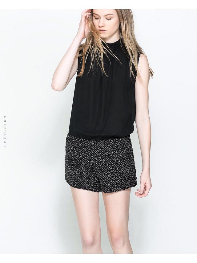 **พรีออเดอร์** ชุดเดรสกางเกงขาสั้นผู้หญิงแฟชั่นยุโรปใหม่ แขนกุด แบบเก๋ เท่ห์ / **Preorder** New European Fashion Sleeveless Pants Dress