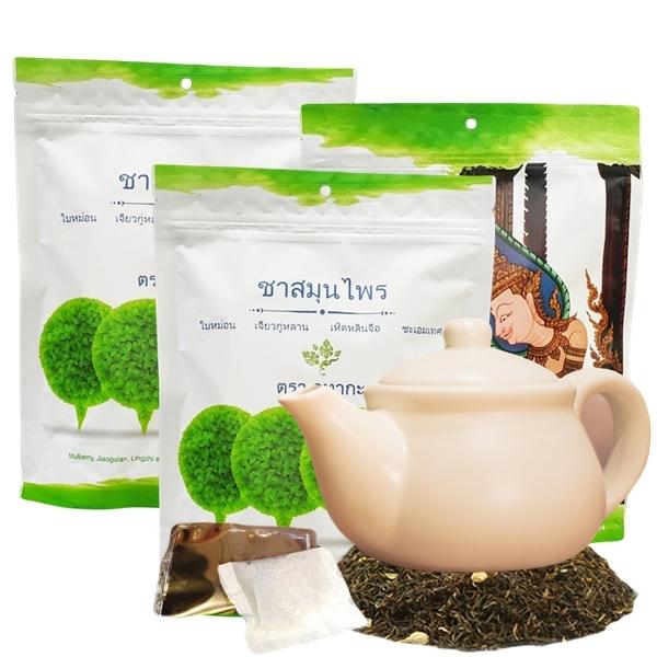 ชาสมุนไพรลดเบาหวาน ตรา อูทากะ 3 ห่อ ( 30 ซอง )