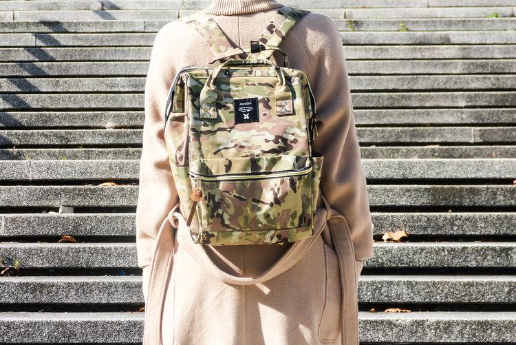กระเป๋าเป้ Anello canvas CAMO/KH (Mini)