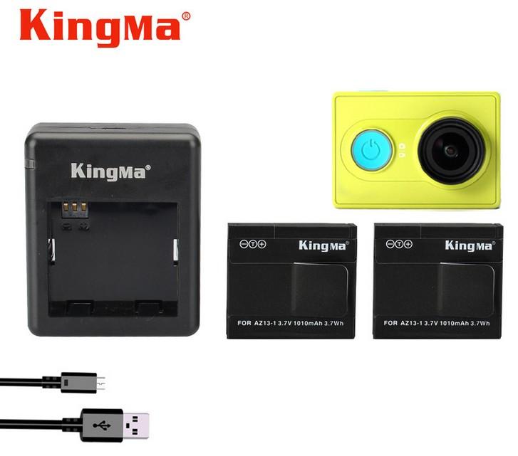 Kingma แทนชาร์จ พร้อมแบตเตอรี่ 2 ก้อน สำหรับ Xiaomi Yi Action Camera (AZ13-2)