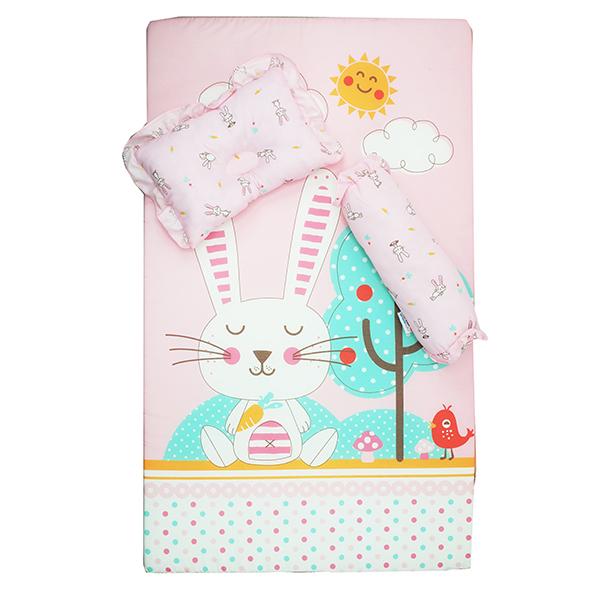 ที่นอนฟองน้ำ Cute Rabbit ขนาดM สีชมพู