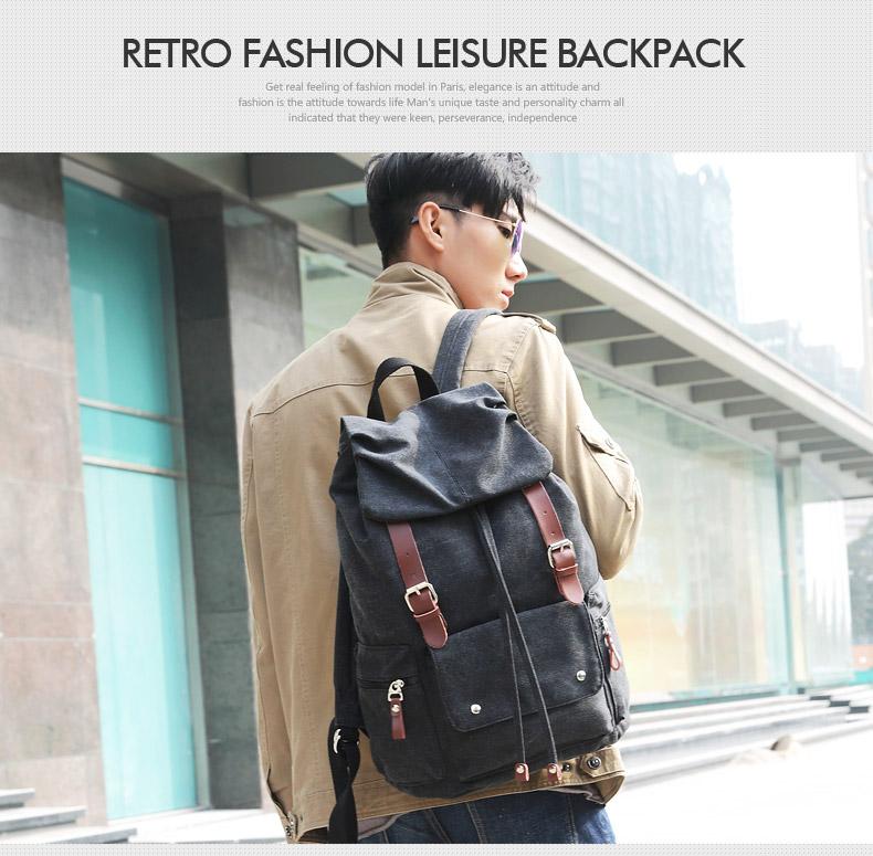 กระเป๋าเป้ Vintage style