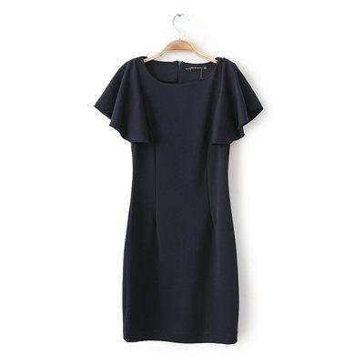 [พรีออเดอร์] ชุดเดรสผู้หญิงแฟชั่นยุโรปใหม่ แขนสั้นดอกบัว เรียบหรู - [ Preorder] New European Fashion Slim Lotus Short-sleeved Dress