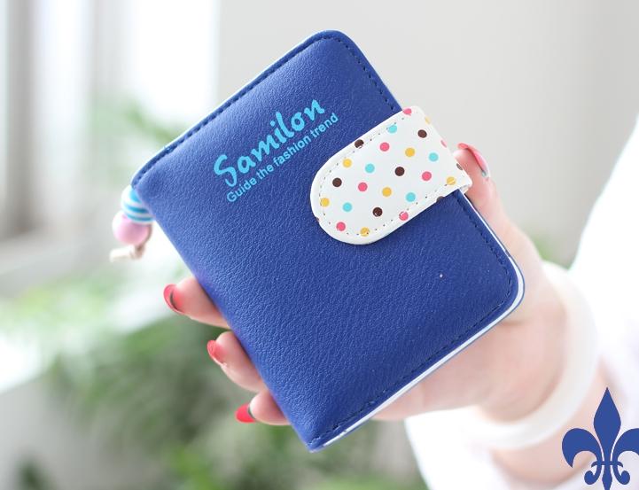 กระเป๋าสตางค์ผู้หญิง cute bag สี deep blue (Short)