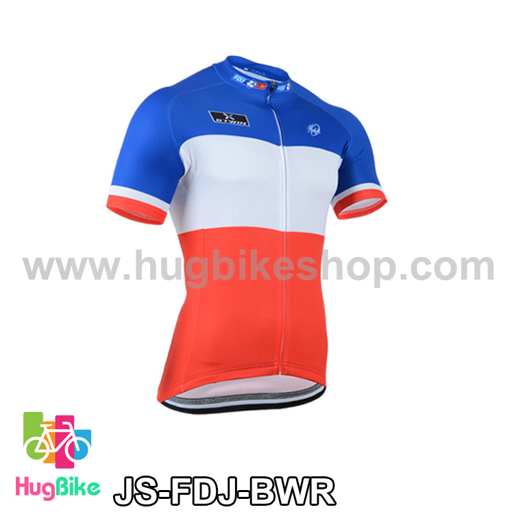 เสื้อจักรยานแขนสั้นทีม FDJ ปี 2014 สีฟ้าขาวแดง สั่งจอง (Pre-order)
