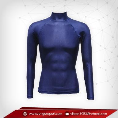 Body Fit / Base Layer เสื้อรัดรูป คอตั้ง แขนยาว สี darkblue