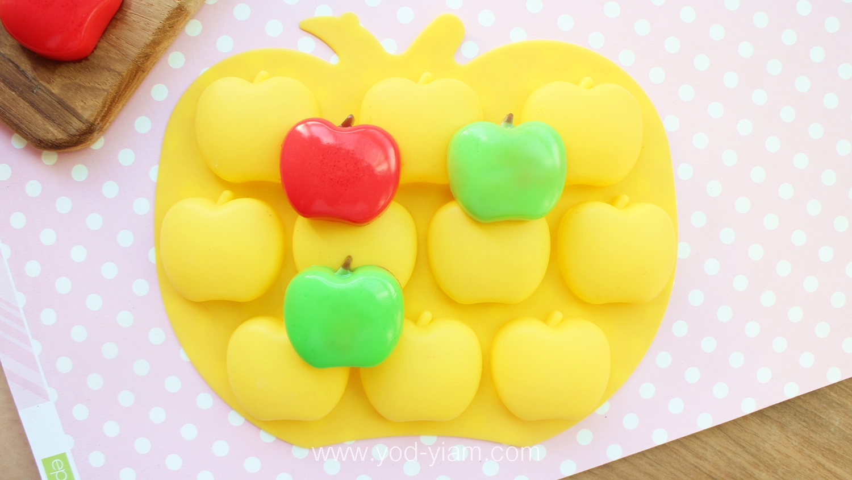 พิมพ์ขนมผลไม้ แอปเปิ้ล