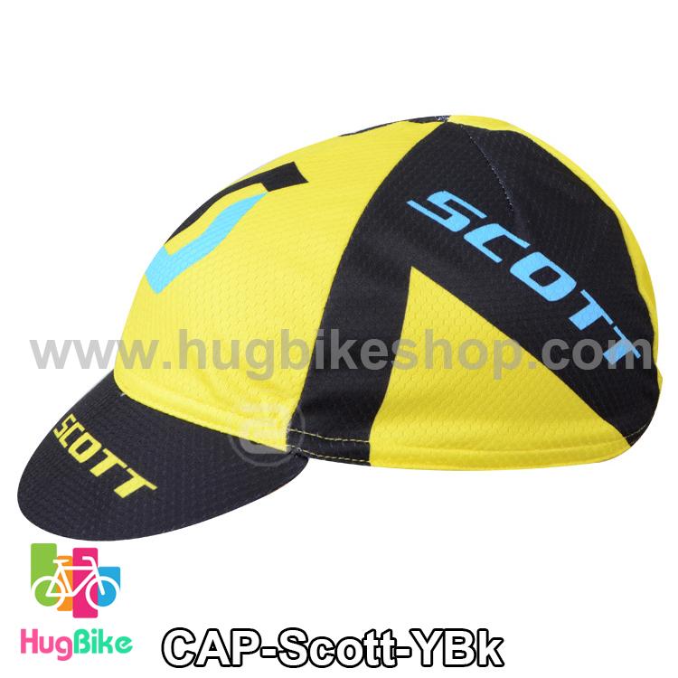 หมวกแก๊บ Scott 14 (02) สีเหลืองฟ้าดำ