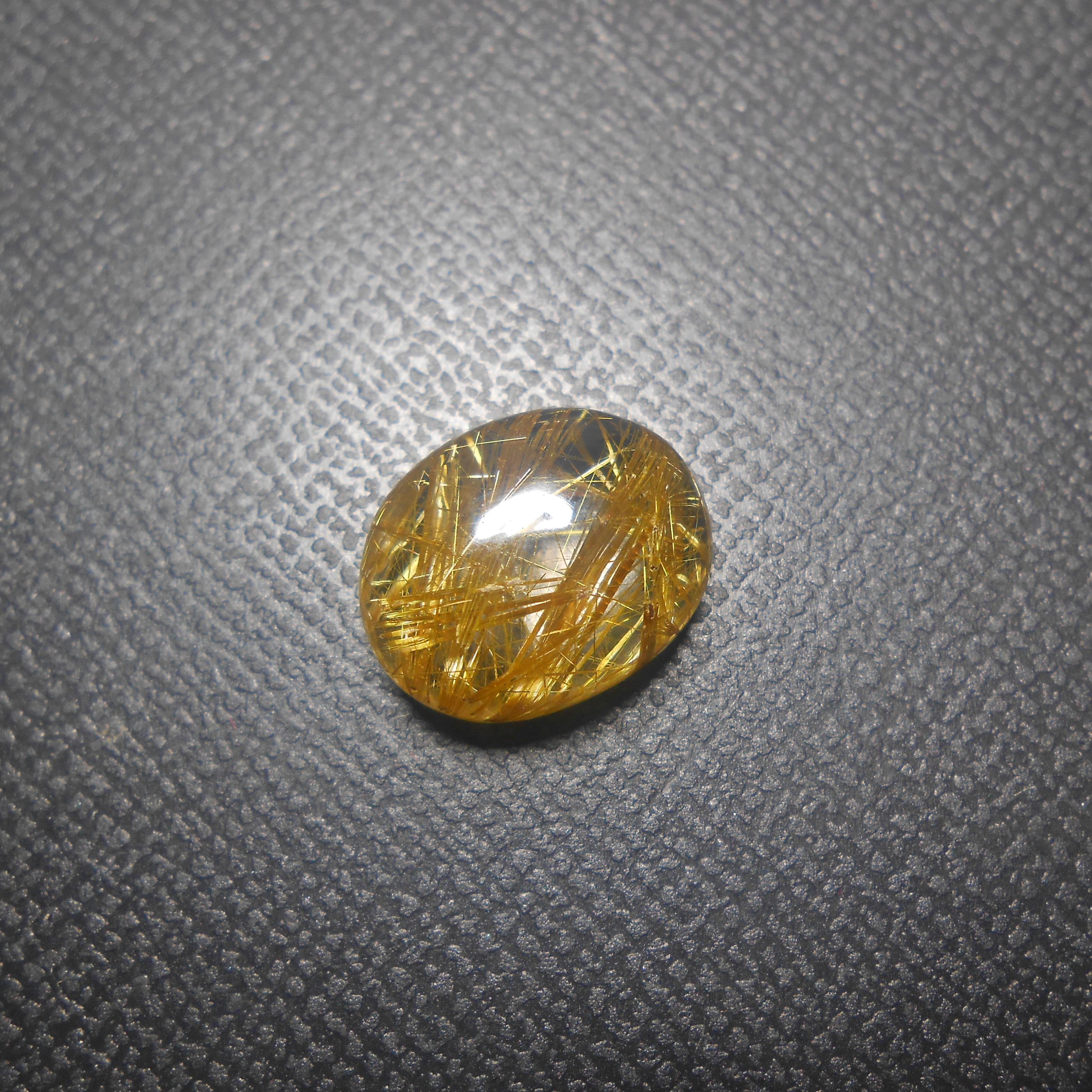 แก้วไหมทอง เส้นแกร่งสวย ทองอร่าม น้ำใส ไร้ตำหนิ ขนาด 1.4x 1.2 mm ทำแหวน จี้ งามๆ