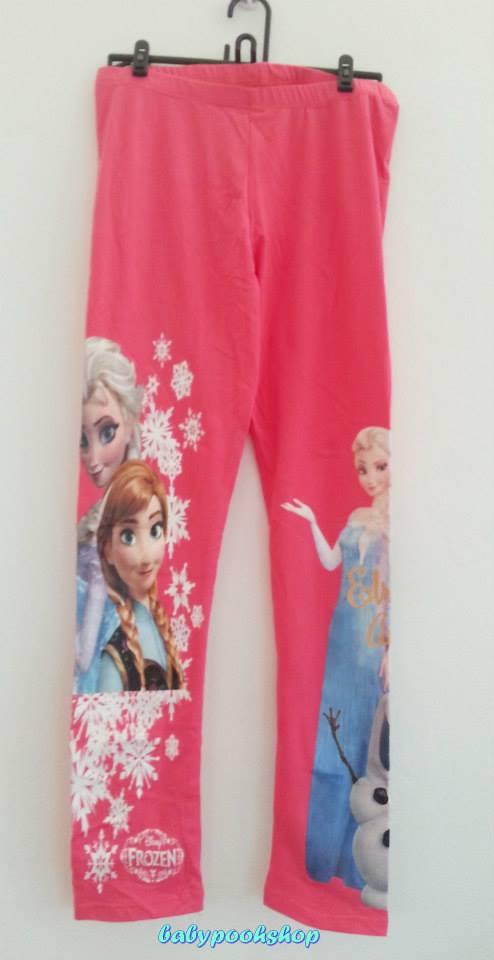 H&M : legging สกรีน ลาย Frozen สีชมพูเข้ม งานสกรีนสวยค่ะ size 8-10y / 10-12y