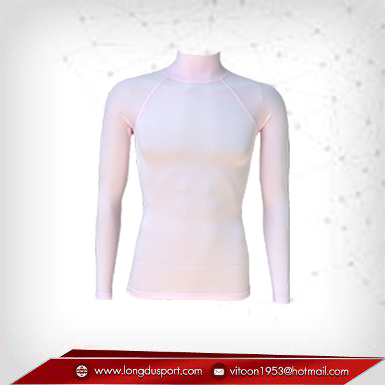 Body Fit / Base Layer เสื้อรัดรูป คอตั้ง แขนยาว สีชมพูอ่อน lightpink