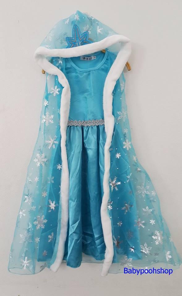 เดรสเจ้าหญิง สีฟ้า size : 110 / 130 / 140 / 150