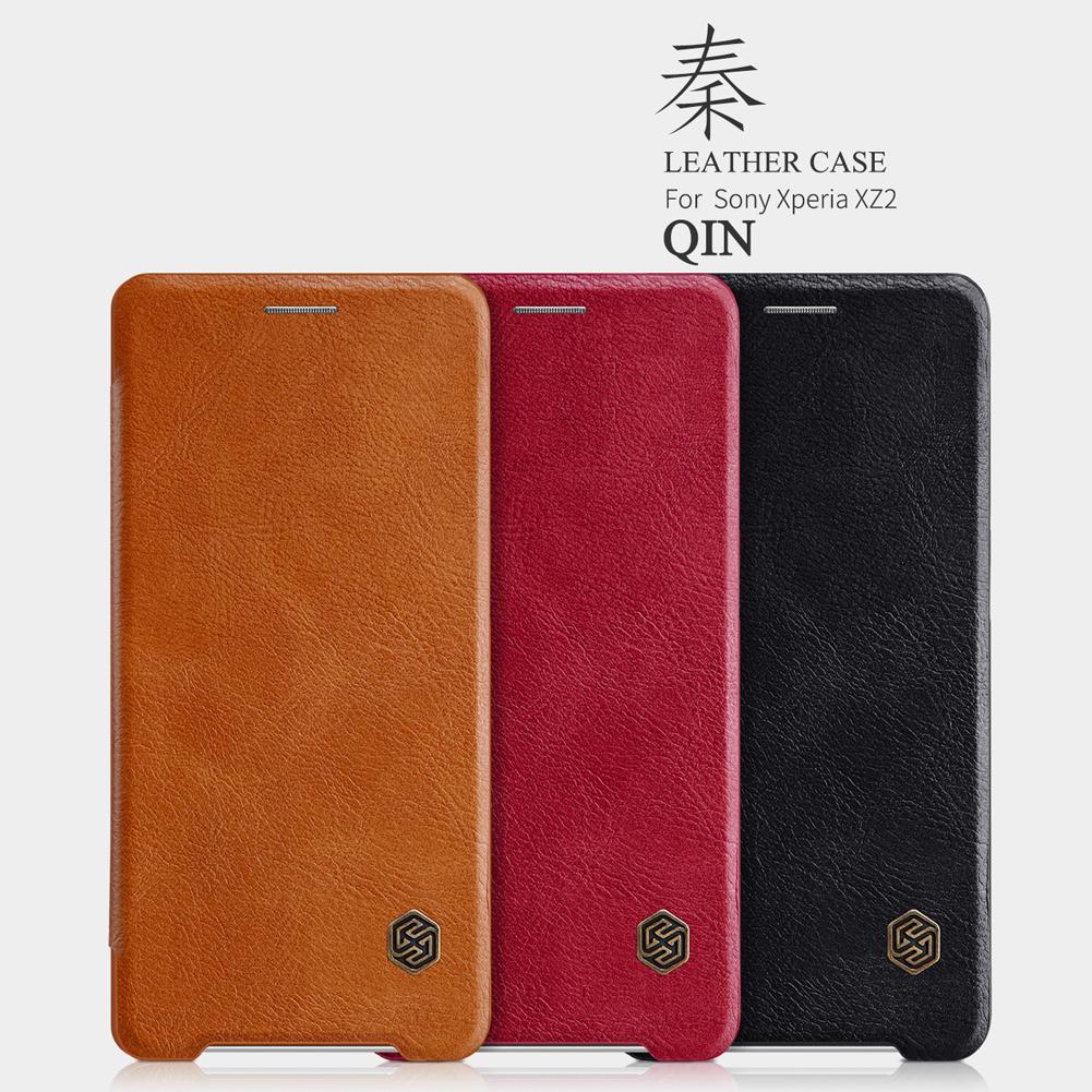 เคสมือถือ Sony Xperia XZ2 รุ่น Qin Leather Case