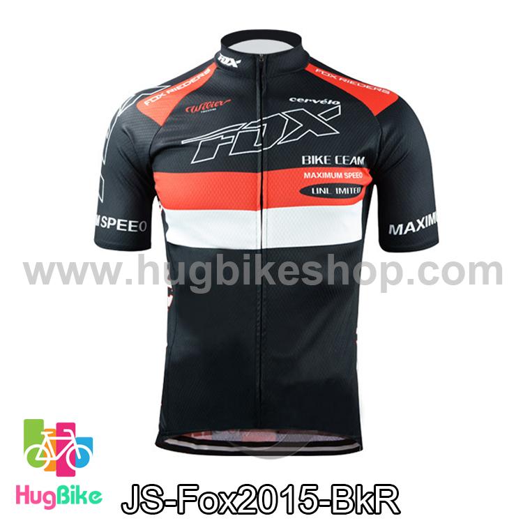 เสื้อจักรยานแขนสั้นทีม Fox 2015 สีดำแดง สั่งจอง (Pre-order)
