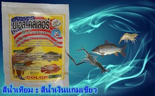สีน้ำเทียม,สีน้ำวิทยาศาตร์,ทำสีน้ำบ่อกุ้ง,สีน้ำเทียมใช้ในบ่อกุ้ง,ทำสีน้ำเทียมบ่อปลา,เพาะลูกกุ้ง ลูกปลา,ยูเอส คัลเลอร์,เลี้ยงกุ้ง,เลี้ยงสัตว์น้ำ