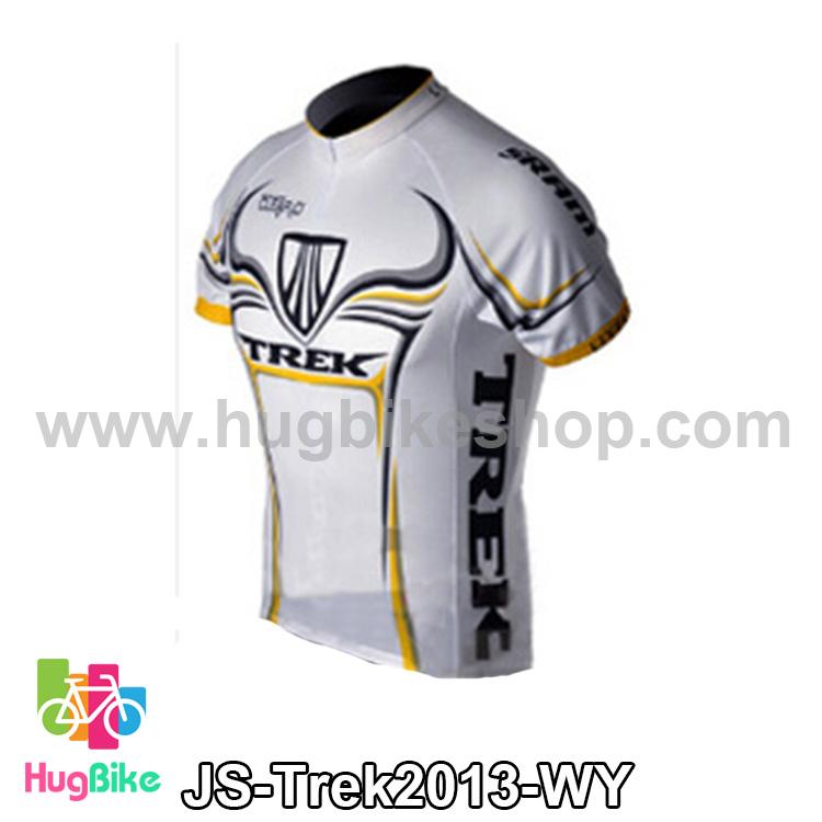 เสื้อจักรยานแขนสั้นทีม Trek 13 สีขาวเหลือง สั่งจอง (Pre-order)