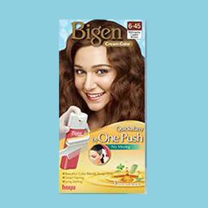 6-45 Mahogany Copper Brown น้ำตาลทองแดงมะฮอกกานี Bigen Easy Quick One Push