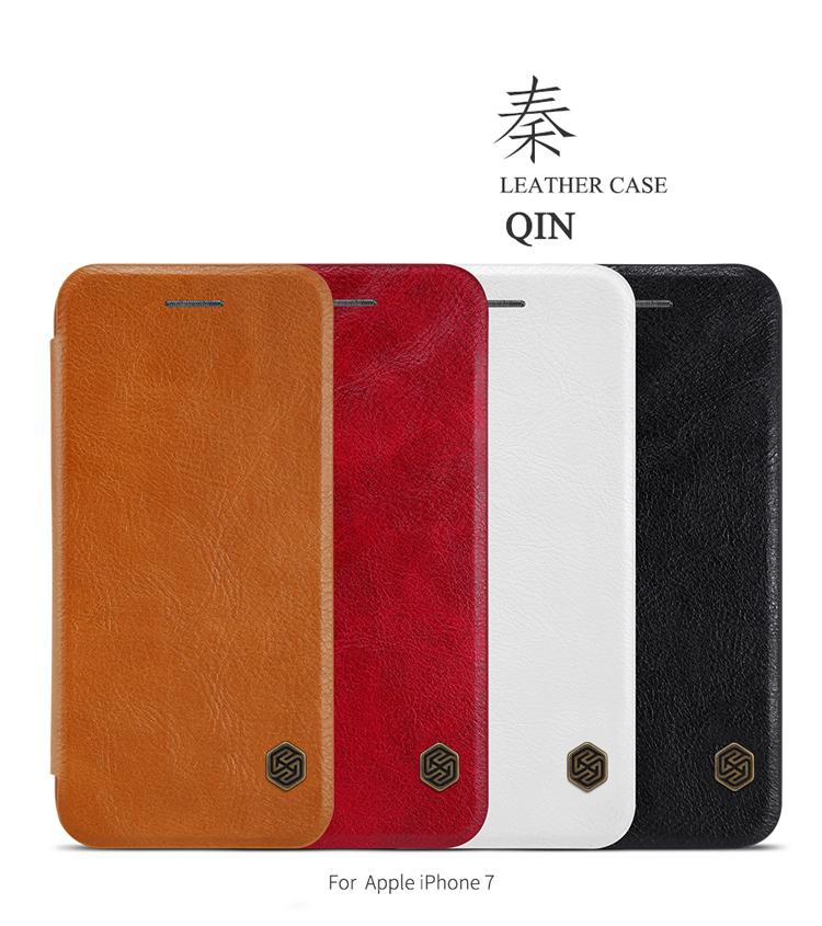 เคสมือถือ Apple iPhone 7 รุ่น Qin Leather Case