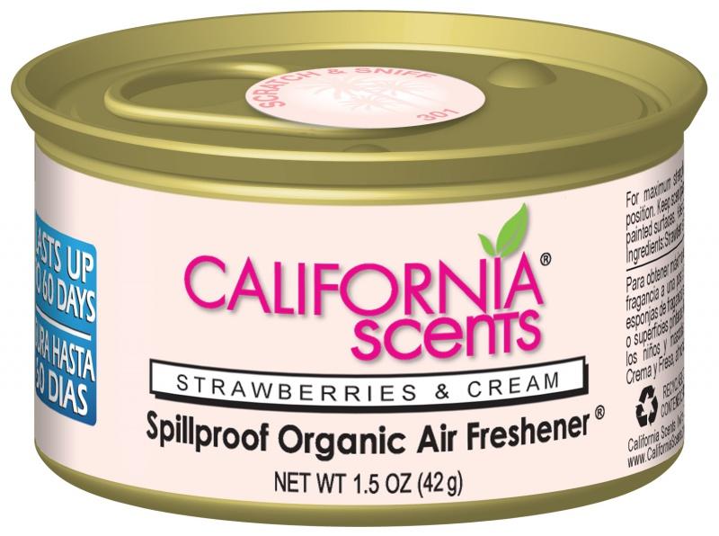 น้ำหอม California Scents กลิ่น strawberry and cream แบบกระป๋อง ขนาด 42 กรัม