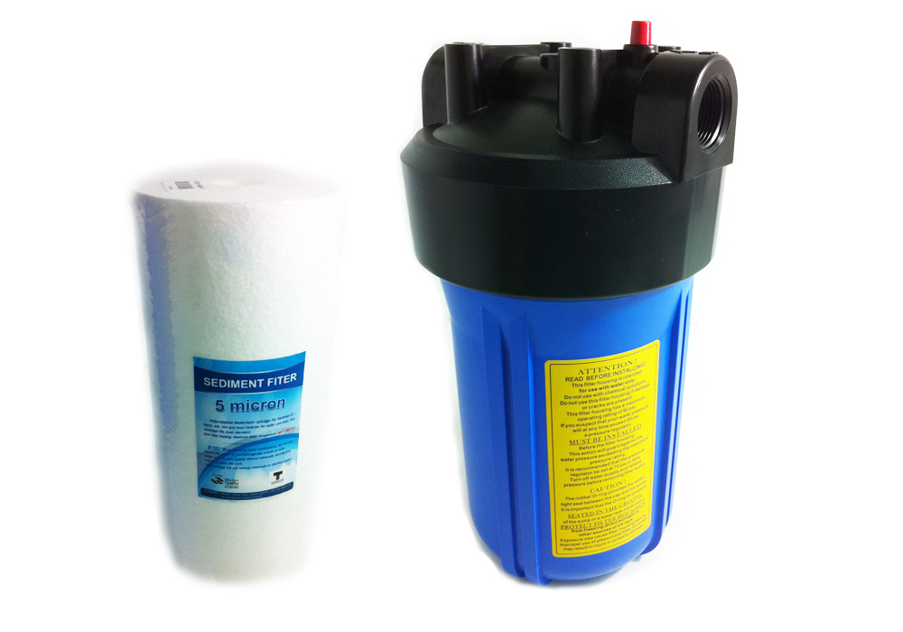 SafetyDrink เครื่องกรองน้ำใช้ 1 ขั้นตอน รุ่น Big Blue (ฟรี ไส้กรอง PP Sediment 5 ไมโคร 1 อัน)