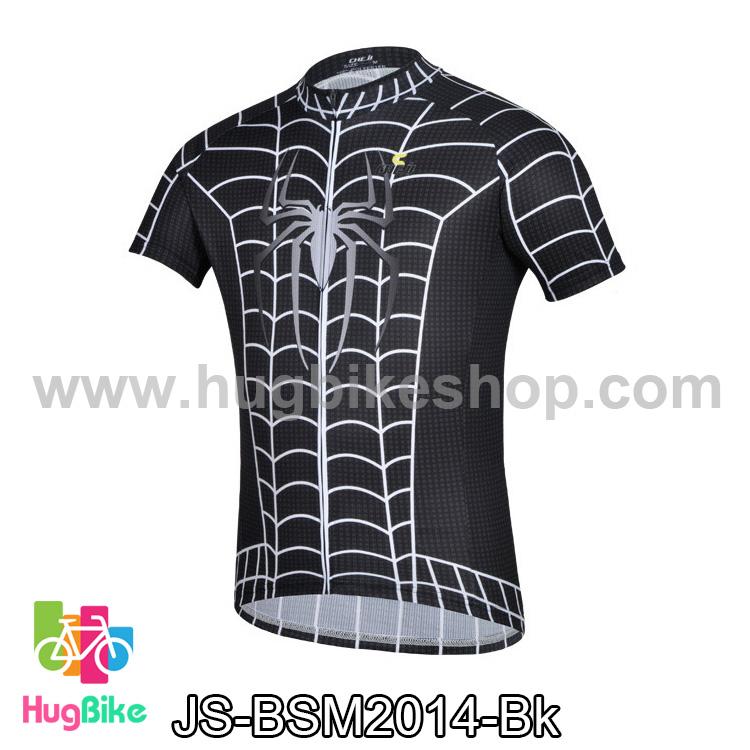 เสื้อจักรยานแขนสั้น ฺBlack Spiderman 2014 สีดำขาว สั่งจอง (Pre-order)