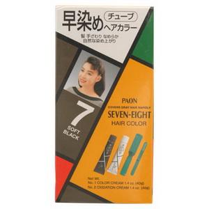 Paon ครีมเปลี่ยนสีผม พาออน เซเว่น-เอท 7-สีดำธรรมชาติ