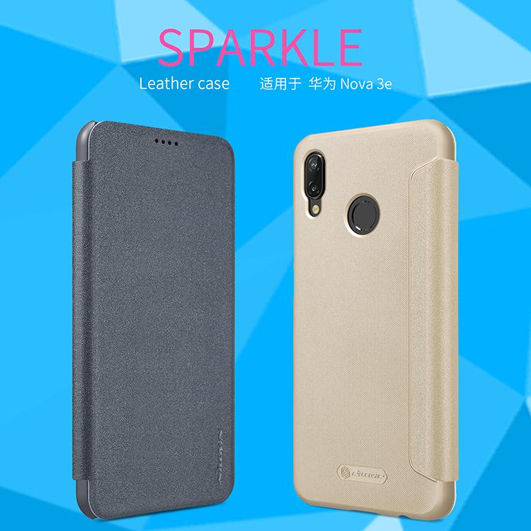 เคสมือถือ Huawei nova 3e รุ่น Sparkle Leather Case