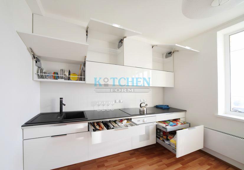 ชุดครัวบิ้วอินรูปตัวไอ ขนาด 3 x 3 m.