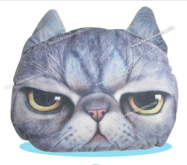 พร้อมส่ง กระเป๋าน้ำร้อนไฟฟ้า ถุงน้ำร้อนไฟฟ้า น้องแมวเหมียวหน้าบึ้ง เบอร์2 ถอดซักได้