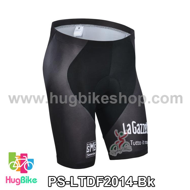 กางเกงจักรยานขาสั้นทีม Le tour de france 14 สีดำลาย LaGazzetta สั่งจอง (Pre-order)