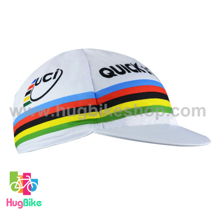 หมวกแก๊บ QuickStep 15 (02) สีขาวลาย UCI