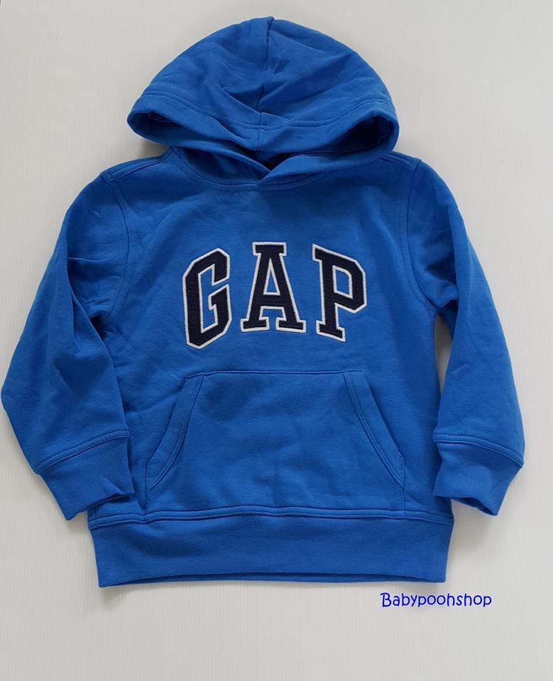 Gap : เสื้อกันหนาวแบบสวม ปักโลโก้ Gap สีน้ำเงิน ข้างในบุผ้าสำลี size : XS (4-5y) / S (6-7y) / M (8-9y) / XL (12y)