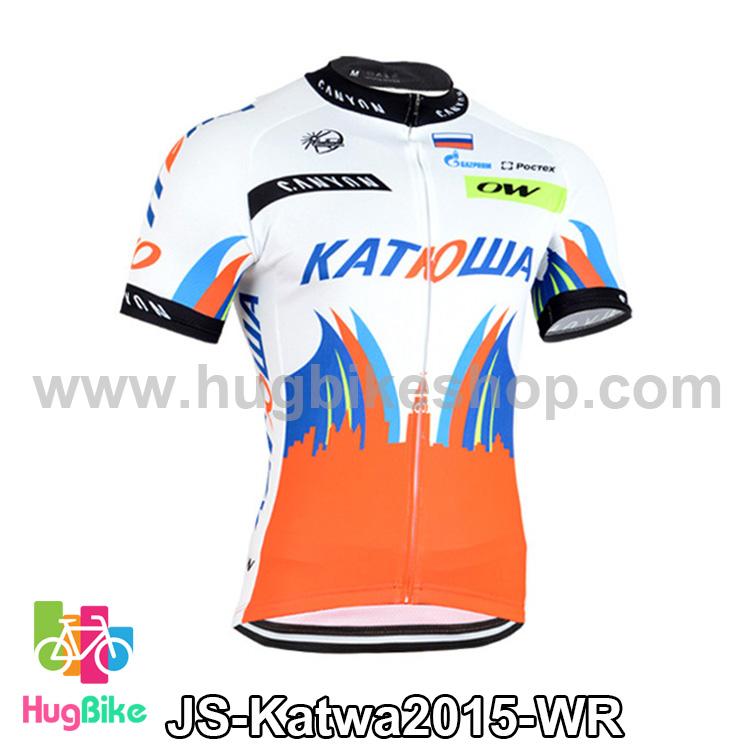 เสื้อจักรยานแขนสั้นทีม Katwa 2015 สีขาวแดง สั่งจอง (Pre-order)