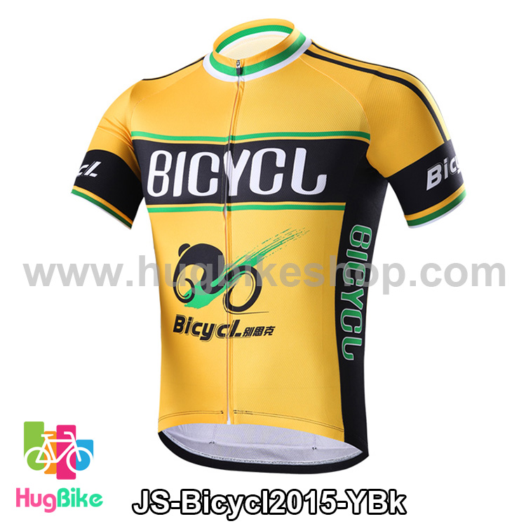 เสื้อจักรยานแขนสั้นทีม Bicycl 2015 สีเหลืองดำ สั่งจอง (Pre-order)