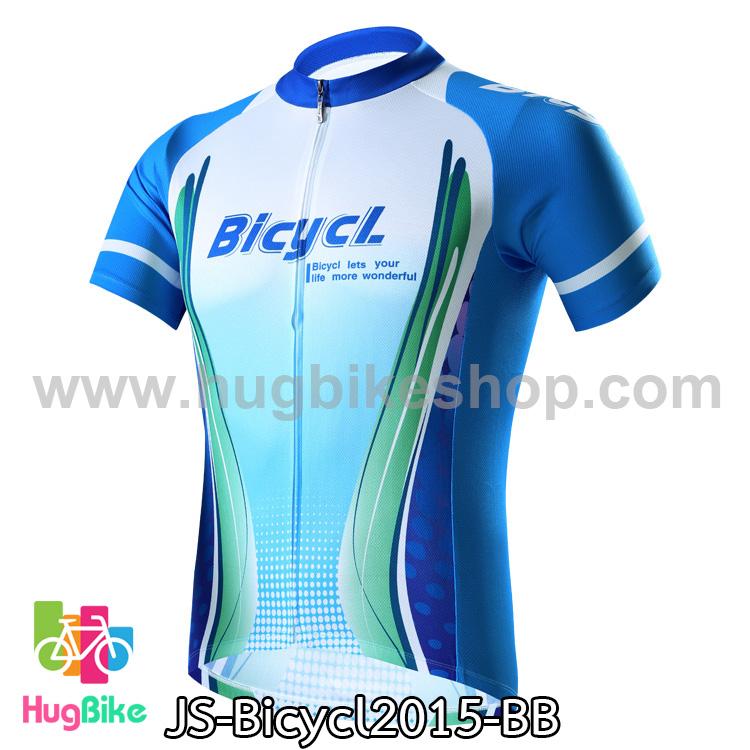 เสื้อจักรยานแขนสั้นทีม Bicycl 2015 สีฟ้าน้ำเงิน สั่งจอง (Pre-order)