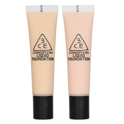 ++Pre order++ 3 CONCEPT EYES Liquid Foundation No.Lace Beige - (SPF20 PA++)