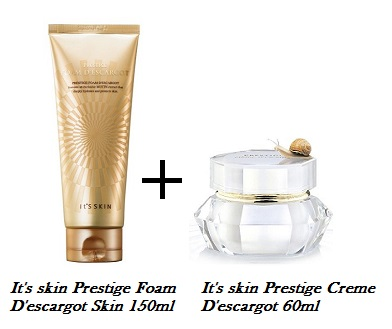 ++พร้อมส่ง++It's skin Prestige Creme D'escargot 60ml + It's skin Prestige Foam D'escargot Skin 150ml