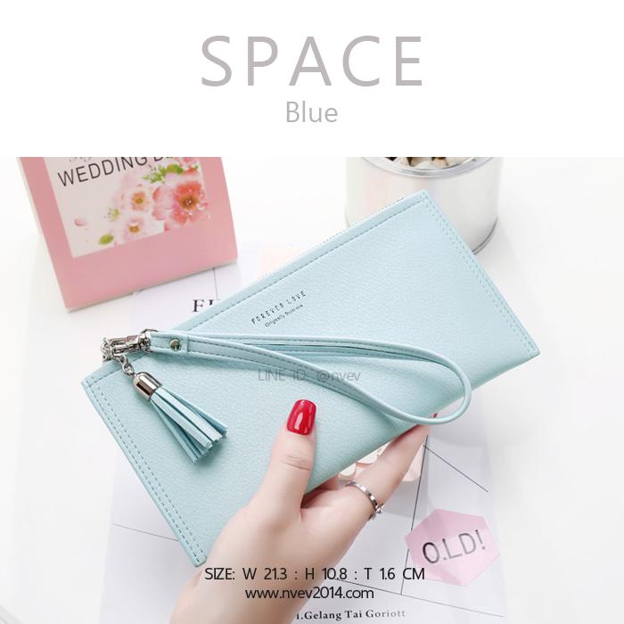 กระเป๋าสตางค์ผู้หญิง ทรงถุง รุ่น SPACE สีฟ้า