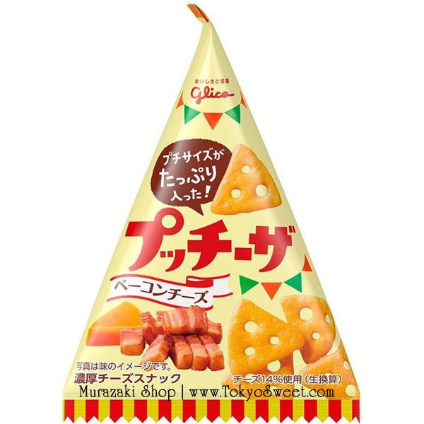 พร้อมส่ง ** Petit Cheeza Bacon Cheese แครกเกอร์ขนาดพอดีคำรสเบคอนและชีส บรรจุ 45 กรัม