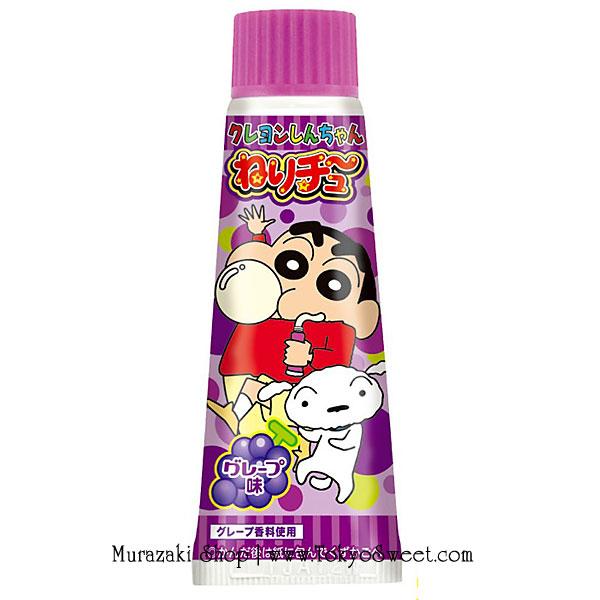 พร้อมส่ง ** Crayon Shinchan Nerichu [Grape] หมากฝรั่งชินจังรสองุ่น มาในหลอดคล้ายยาสีฟันสุดกวน บรรจุ 30 กรัม