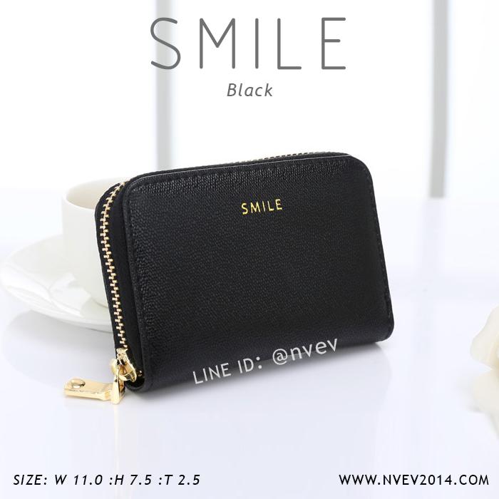 กระเป๋าใส่บัตร เอนกประสงค์ รุ่น SMILE สีดำ