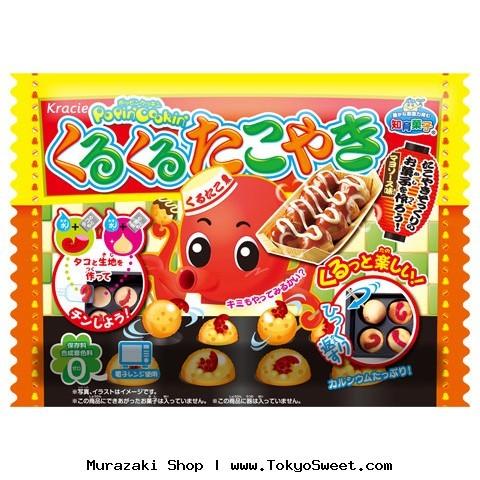 [ซื้อ 3 แถม 1] พร้อมส่ง ** Kracie - Popin Cookin Kurukuru Takoyaki ชุดทำทาโกยากิ (ใช้ไมโครเวฟ) (ทานได้)