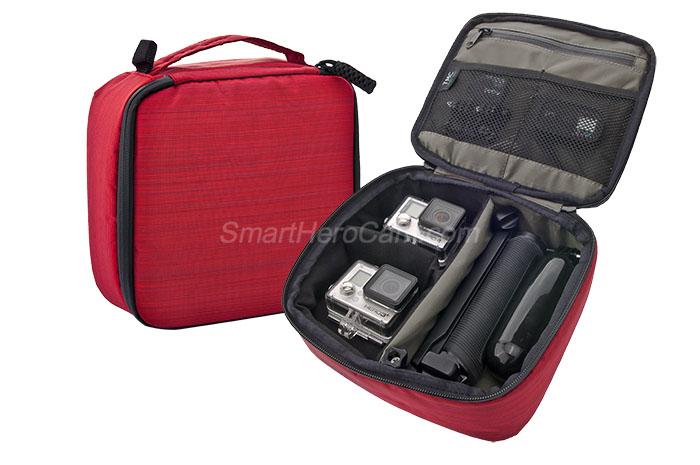 กระเป๋ากล้อง ยี่ห้อ TMC Sport ไซส์ M ( 22 x 20 x 7 cm ) - [แดง]