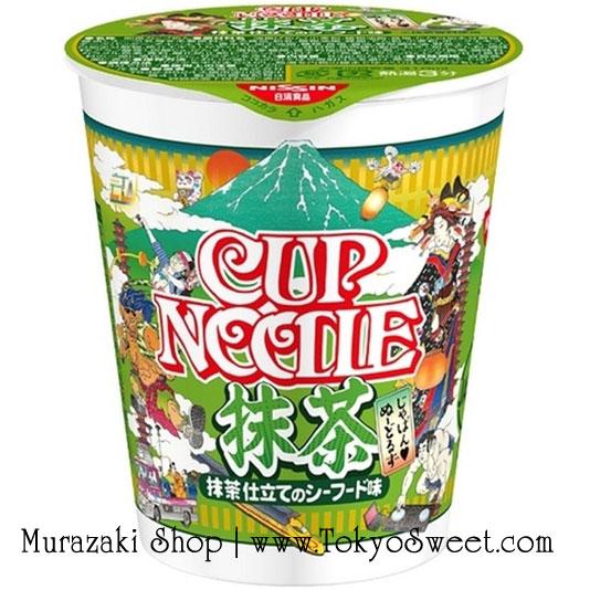 พร้อมส่ง ** Nissin Cup Noodle [Matcha] บะหมี่กึ่งสำเร็จรูปแปลกใหม่ เส้นราเม็งรสชาเขียว มาพร้อมกับน้ำซุปรสซีฟู้ด พร้อมเครื่องเคียงต่างๆ อัดแน่น 1 ถ้วยบรรจุ 77 กรัม