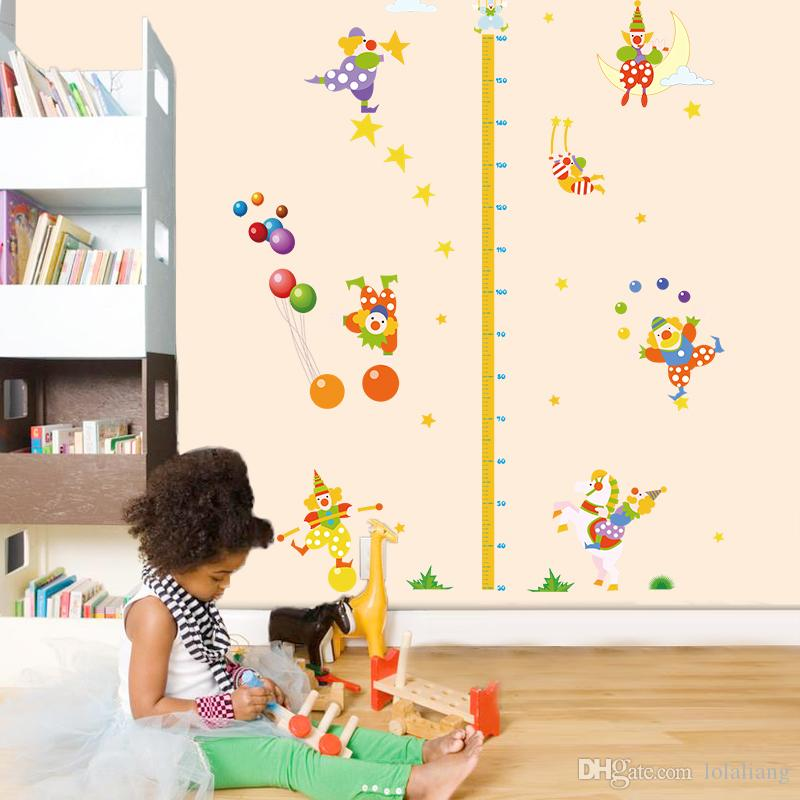 """สติ๊กเกอร์ติดผนังที่วัดส่วนสูงสำหรับเด็ก """"ที่วัดส่วนสูงโบโซ่"""" สเกลเริ่มต้น 30cm ถึง 160cm"""