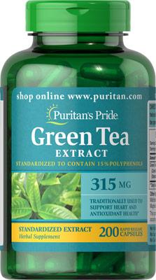 ชาเขียวต้านอนุมุลอิสระ Green Tea Standardized Extract 315 mg / 200 capsule